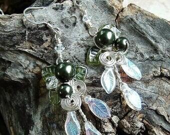 ON SALE Lothlorien Spring Forest Earrings