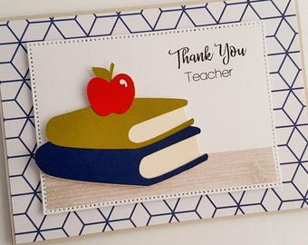 Thank you Teacher Card, End of School Year Card, School Thank You Card READY TO SHIP