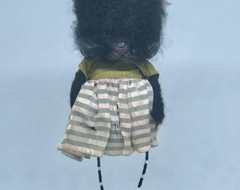 HOLD for Bhenry Kennedy the black cat Ooak art doll