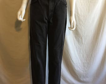 90s LEVIS 550 relaxed Fit Tapered Leg black jeans  high waist jeans pants vintage  Waist W 31