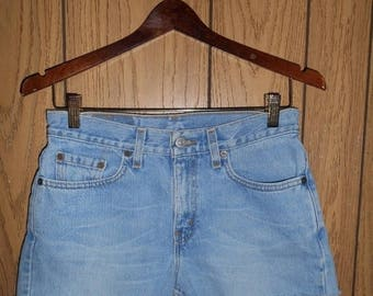 Closing Shop 40%off SALE LEVI'S Jeans zip up  Fly cutoffs cut off festival Denim Jean Shorts   W 29