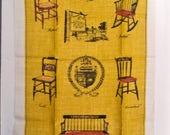 Vintage Linen Tea Towel - Hitchcock Chairs - Mint Condition