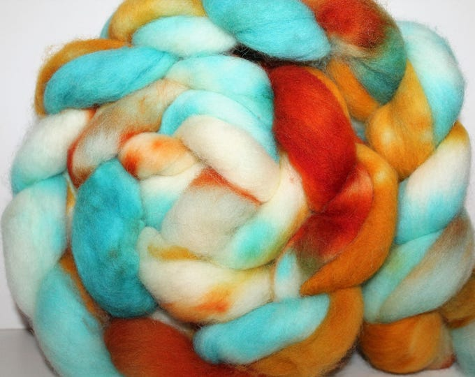 Kettle Dyed Cheviot Wool Top.  Easy to spin.  Great for felting. 1lb. Braid. Spin. Felt. Roving. C101