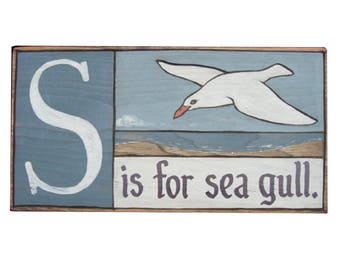 Shoreline, Alphabet Primer - S is for sea gull