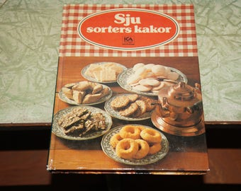 Vintage Swedish Denmark cookbook      sju sorters kakor