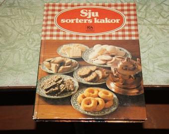 Vintage Swedish cookbook, sju sorters kakor