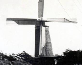 vintage photo windmill at Golden Gate park San Francisco