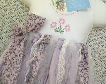 Fabric & Tulle Tutu - Lavender / Purple - First Birthday