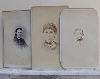 Vintage Sepia Photograph Portrait Young Council Bluffs Iowa 1800s
