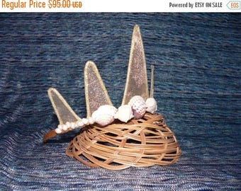 SUMMER SALE 20% OFF Gold Mermaid Crown with Seashells and Pearls