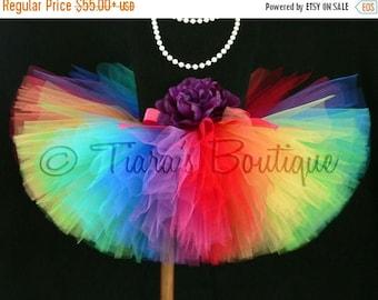 SUMMER SALE 20% OFF Adult Tutu - Teen Tutu - Imagine - Extra Full Rainbow Tutu - Custom Sewn Tutu - up to 12'' Long