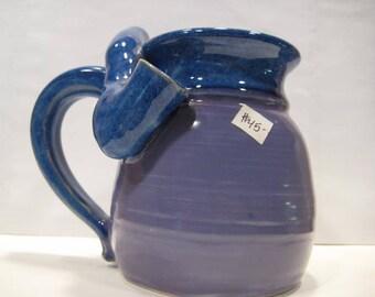 Blue and Lavender  - Wake and Bake Small  Mug....  MUG and a PIPE.... AWESOME !!!  ....... A48