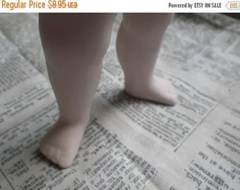 SALE 20% Off Vintage Bisque Plump Baby Doll Legs with Hip Joints 5 Inches One Pair