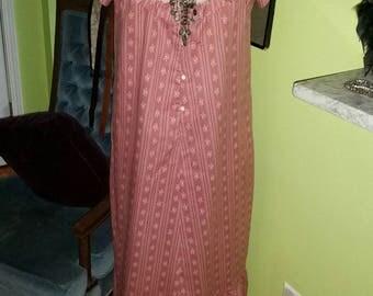 Boho Hippy Chic Vintage Maxi Hawaii Dress