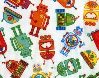 Babyville Robots PUL Waterproof Diaper Fabric