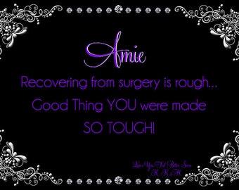 Feel Better Soon Purple Filigree Fancy