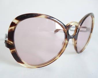 FABULOUS 1960s SUNGLASSES Italian Riviera Curved Women's Statement Sunglasses Bug Eye Frames  Unused Vintage Glasses Eyewear No Rx S65
