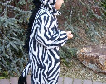 Zebra Costume, Sizes 1-2 or 3-4