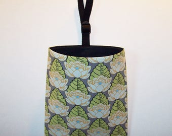 Car Litter Bag // Auto Trash Bag // Auto Litter Bag // Stay Open Design! // Amy Butler Lotus Pond Ivory