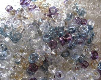 Assorted Rondelle Czech Glass Beads  6mm -7mm  200 Beads