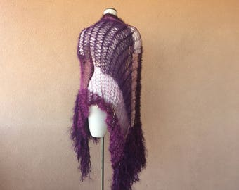 Burgundy Wedding Maroon Shawl Wide Scarf Wrap Shawl, Dark Purple Shawl Plum Shawl with Fringe, Stevie Nicks Wrap Shawl