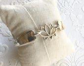 Lotus spoon handle bracelet