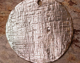 Large Disc Pendant in Sterling Silver, PN-663