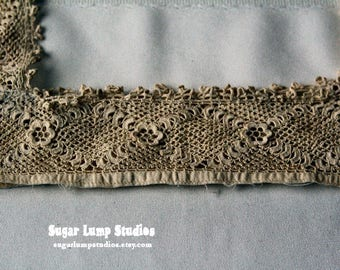 Edwardian Nightgown Topper Antique Crocheted Lace