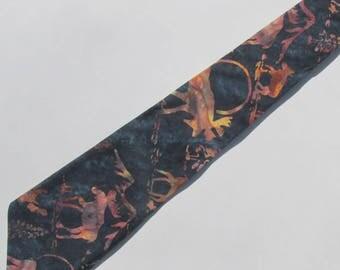 Moose Midnight Blue Necktie with Free Gift Box, Moose Tie, Moose Necktie