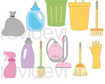 35% OFF SALE Cleaning appliances clipart - cleaning clip art, digital images - commercial use, instant download