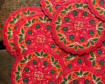 Vintage Coasters - Set of 12 - Hallmark Coasters, Paper Coasters, Vintage Kitchen, Kitchen Coasters, Kitchen Decor, Vintage Holiday Coasters
