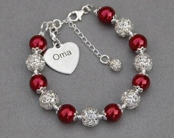 Oma Jewelry, Oma Gifts, Grandma Charm Bracelet, Grandma Gift Ideas, Oma Bracelet, New Oma Gift, Grandmother Present