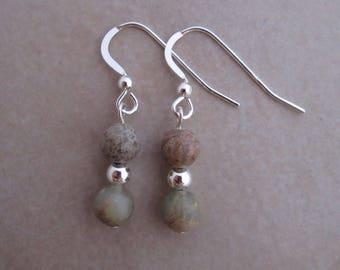 aqua terra jasper earrings sterling silver