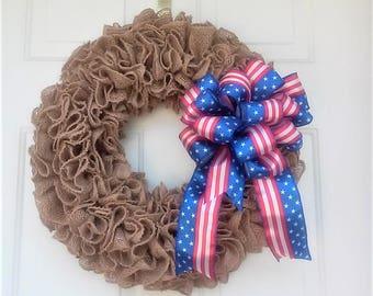 Burlap Wreath / Ruffle Wreath / Front Door Wreath.