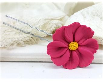 Cosmos Hair Clip Pin - Cosmos Hair Flower