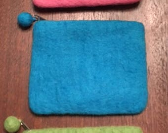 Hand made felted coin purses