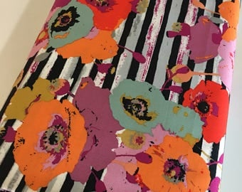 Boho Fabric, Floral fabric, Floral Stripe Fabric, Fusions Spice by Art Gallery, Paparounes Spices- You Choose the Cut