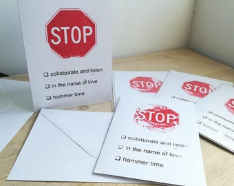 Stop (set of 5 cards)