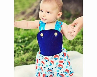 SALE Baby Sun Suit Pattern -- Sunny Day Suit -- Girls up to 6 and baby boys up to 2t Instant