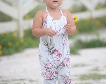 SALE Boho Knit Romper Pattern for girls sizes newborn - size 12 youth