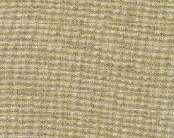 Robert Kaufman Fabric, Essex Yarn Dyed Metallic, E105-1059 Camel, 50% Linen, #177