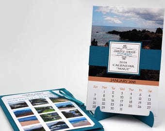 2018 Photo Calendar with Folder and Stand - Maui