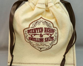 Choice of Vintage Label Embroidered Drawstring Bag