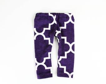 Fits like American Girl Doll Clothes - Quarterfoil Leggings in Acai Purple