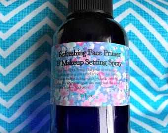 TIME REWIND....Refreshing Face Primer and Makeup Setting Spray//White Tea and Rosewater/Facial Mist/Toner