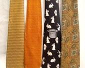 30% MOVING SALE Pick A Tie! Vintage neckties / medium wide ties / novelty tie / silk neckties / pick one!