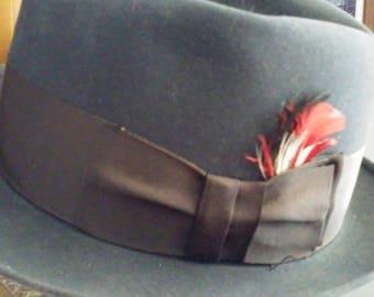 Dobbs Fifth Avenue New York blue gray hat