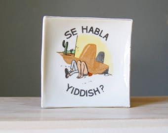 Weird Bradley Dish Se Habla Yiddish? Vintage Siesta Sombrero Naughty Woman and Man