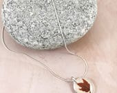 Red Maple Necklace in Sterling Silver