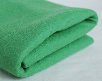 100% Pure Wool Felt Fabric - 1mm Thick - Made in Western Europe - Dark Sea foam Green